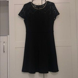 Jessica Simpson Black Dress with Lace detailing